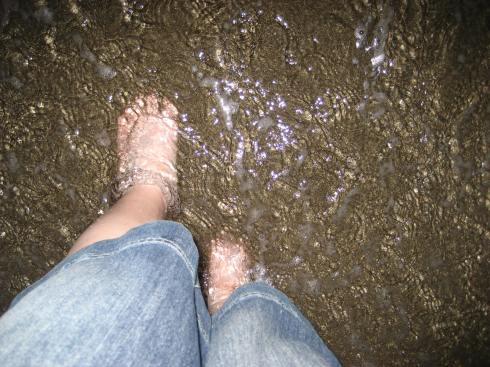 Feet in the Mediterranean Sea